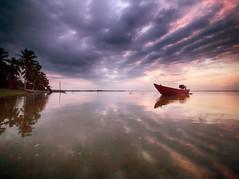 IMG_6988 ~ waiting for the day (alongbc) Tags: jubakarpantai jubakar tumpat kelantan travel places trip morning sunrise fishingboat fishingvillage canon eos700d canonlens 10mm18mm wideangle sea clouds sky