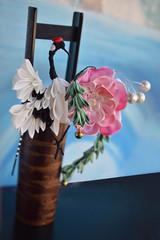 Kanzashi Winter Crane, Peony and bamboo design. Handmade silk comb. (Bright Wish Kanzashi) Tags: silk fiberart handdyed handmade tsumamizaiku tsumamikanzashi hanakanzashi kanzashi crane tsuru blackandwhite pink kimonoaccessory japanesetechnique hairpin 鶴 簪 花かんざし ハンドメイド 手作り 髪飾り 伝統工芸品 鳥 kanzashicreature peony botan 牡丹 竹 bamboo winter 冬 オーダーメイド プレゼント bespoke etsyorder customorder
