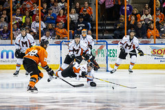 "Missouri Mavericks vs. Quad City Mallards, December 31, 2016, Silverstein Eye Centers Arena, Independence, Missouri.  Photo: John Howe / Howe Creative Photography • <a style=""font-size:0.8em;"" href=""http://www.flickr.com/photos/134016632@N02/31972639241/"" target=""_blank"">View on Flickr</a>"