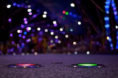 36 - Nightlight (4oClock) Tags: singapore sg50 2015 nikon asia city urban republic bokeh helix bridge lights green red blue ferriswheel singaporeflyer marinabay night nighttime noflash modern arup dna steel stainlesssteel glass light lefthanded marina bay bayfront downtown downtowncore dark