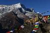 Himalaya, Nepal: Shar (6.093m) (dscheronimo) Tags: shar nepal himalaya nikon d800 berge gebetsfahnen prayerflags berg mountain namchebazar trek trekking travel reise