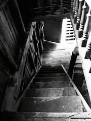 The Light Behind... (deanspic) Tags: quote musing stairs moosecreek ontario heritage g1x dark noir bw