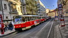 Trams, Prague (AreKev) Tags: red tram trams tramcar streetcar 8442 publictransport public transport czechtransport prague praha bohemia czechrepublic europe europeanunion capitalcity hdr photomatixpro nikond7100 nikon d7100 sigma 1020mm 1020mmf456exdchsm tatrat3 tonemapped