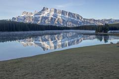 IMG_9945 (RosieNiawm) Tags: canada canadianrockies twojacklake lakeminnewanka mountrundle