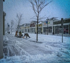 Snow Day work (mgstanton) Tags: wayland town snow winter waylandtowncenter