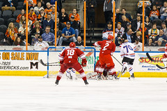 "Missouri Mavericks vs. Allen Americans, March 3, 2017, Silverstein Eye Centers Arena, Independence, Missouri.  Photo: John Howe / Howe Creative Photography • <a style=""font-size:0.8em;"" href=""http://www.flickr.com/photos/134016632@N02/33117917452/"" target=""_blank"">View on Flickr</a>"