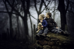 My Brother's Keeper (Phillip Haumesser Photography) Tags: philliphaumesser boys brothers buddies children friends kids love mood siblings sony teddy