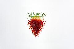Mosaic.. (Antonio Iacobelli (Jacobson-2012)) Tags: strawberry fragola mosaico red white fruit dispersion bari nikkor 60mm effect nikon d800