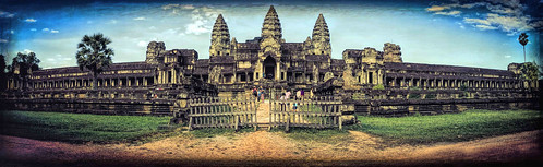 Ankor Wat rear view Panorama