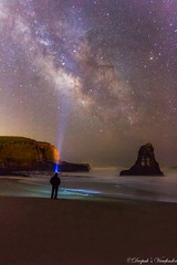 Stargazer! (deepaksviewfinder) Tags: ifttt 500px milky way galaxy galactic core chaser stargazer searching for stars night sky photography california davenport nature beauty landscape beach ocean water waves selfie