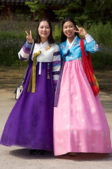 Peace Out (shutterBRI) Tags: city travel girls smile women asia peace sony august palace korea dresses seoul southkorea nex 2015 travelphotography brianutesch brianuteschphotography nex7