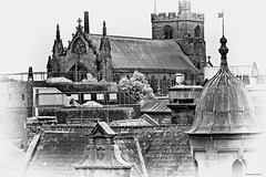 """Carlisle Cathedral  """"Over the roof tops"""" (Pensioner Percy, very slow at the moment) Tags: nikon cathedral cumbria dome placesofworship bishop carlisle anglican debenhams carlislecathedral tamron70300mm northwestengland augustinianpriory d7100 photographyofcumbria"""