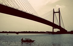Second Hoogly Bridge over The Ganges (Dr. Dynamic) Tags: bridge monochrome river boat kolkata historicalmonument 2ndhooglybridge theganges vidyasagarsetu secondhooghlybridge kolkatastreets kolkatamoidan kolkatadiaries