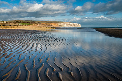 Culver reflected (3dit0r) Tags: sea seascape reflection beach landscape sand isleofwight sandown culver sandownbay