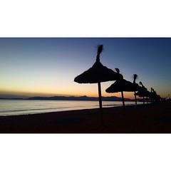 Evening in Mallorca #sunset #beach #paradise... (irminastyle) Tags: sunset beach paradise mallorca majorka uploaded:by=flickstagram instagram:photo=960233983901220667187243118