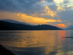 Austria 2015 - Oostenrijk 2015 - Millstatter See (JaapPostma) Tags: camping sunset lake mountains swimming austria see oostenrijk zonsondergang meer bergen millstatter zwemmen burstaller