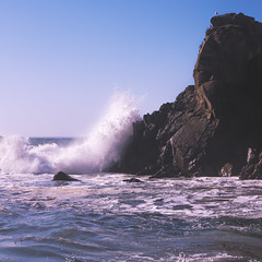 Pfeiffer State Beach (japheth-crawford) Tags: ocean california leica sky beach nature water rock landscape lumix coast rocks wave bluesky clear splash crashing crashingwave pfeifferstatebeach