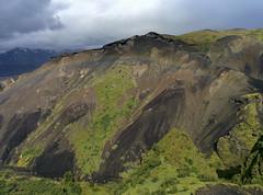 Breathtaking Rainbow - like printed on the mountain at Thorsmörk Langidalur, Laugavegur - Trek on Iceland