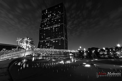 Lagoona Plaza, Doha (Alexis Methenitis) Tags: plaza longexposure nightphotography blue sky people green water night clouds canon reflections outdoor sony qr doha qatar lagoona canonef14mmf28liiusm metaboneseftoemkiii sonya7rii sonya7rm2 sonya7rmkii sonya7riiwithefmount