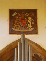 Royal Arms of Elizabeth II, Whitwick (Aidan McRae Thomson) Tags: church painting leicestershire heraldic royalarms whitwick