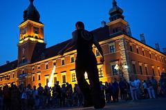 Plac Zamkowy (DR_CR) Tags: night fire poland polska flame warsaw polonia fuoco warszawa notturno varsavia