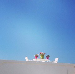 skyflowers (κατερινααν) Tags: flowers sea summer vacation sky holidays day greece paros kyklades