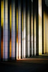 enter rainbow-land (aperture one) Tags: shadow abstract building architecture modern germany deutschland hessen frankfurt stripes structures struktur architektur pillars schatten gebäude frankfurtammain abstrakt streifen säulen