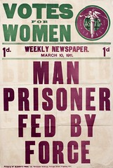 Poster : Votes for Women - Man Prisoner Fed by Force, March 1911.