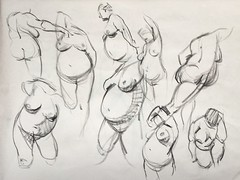 Sunday afternoon figure drawing at OCAD (aaross) Tags: life woman art nude drawing figuredrawing gestures