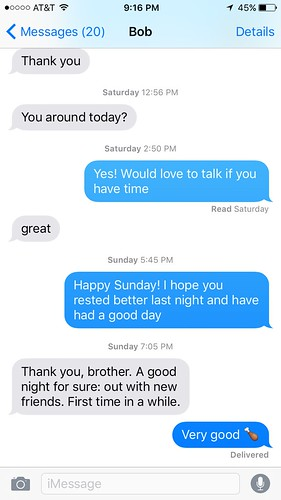 Last texts with Bob Sprankle by Wesley Fryer, on Flickr