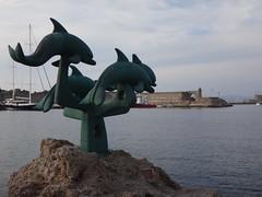 Marina, los Delfines. Rodas. Grecia (escandio) Tags: grecia mandraki rodas 2015 isladerodas rodasciudad