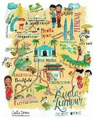 CAROLINE_BONNE-MULLER_Kuala Lumpur_5B_WK4 (cartitadesign) Tags: city design map illustrative malaysia editorial kuala kl lumpur selamat week4 datang lillarogers cartita matsb makeartthatsells cartitadesign
