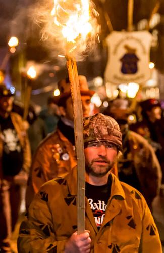 Rye bonfire procession