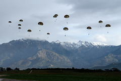 Paratroopers in action