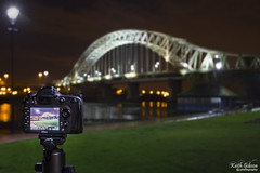 Runcorn Bridge (wiganworryer) Tags: camera bridge 2 sky west night canon river dark lens landscape nikon looking zoom mark bank keith screen ii 7d l series 24 through 105 gibson f4 mk mersey runcorn widnes 7200 2015 wiganworryer