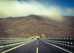 Cisa (Alessandro Banducci * Ganaverre) Tags: strada autostrada street carretera autopista highway sky cielo carreggiata guardrail infinito infinity orizzonte fuga via appennino montagna autunno pov