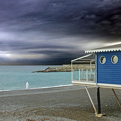 Ventimiglia, Liguria, Italia (pom.angers) Tags: panasonicdmctz30 2015 october ventimiglia liguria italia italy beach europeanunion woman 100 150