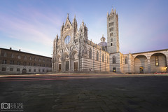 Siena (Giuseppe Sapori) Tags: siena cathedral square light trails blue hour italy tuscany italia cattedrale duomo di luminosity masks