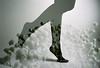 Lighter Than Air (Hayden_Williams) Tags: legs girl stockings pantyhose feet pose lady woman feminine ankle beauty beautiful flower flowers garden air float film analog analogue canonae1 fd50mmf18 kodakportra400 doubleexposure multipleexposure