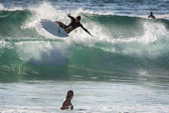 Warriewood Beach (Jeremy Denham) Tags: warriewood surf surfing air wave sport blue green