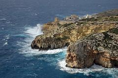 Wied iz-Zurrieq, Malta, in rough weather (kukkudrill) Tags: wied izzurrieq malta zurrieq coast coastline cliffs cliff limestone sea waves rough bad weather crags mediterranean winter