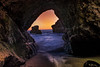 No Way Out (karyfy) Tags: cave rock ocean water sunset