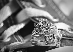 Macro BW (Grant 1141) Tags: sb700 wedding ring marriage still life nikon d810 macro fossil chucks shoes pillow reflection photography off camera lighting justin gabby