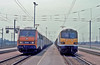 SNCF 'Sybic' No.26220 Mossend-Paris freight, 92028 6B31 Wembley-Lille. Frethun Yard 1 June 1999. (mikul44171) Tags: 26220 calais sybic class92 92028 frethunyard frethun triage chunnel 92001