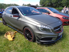Mercedes A-Klasse W176 (911gt2rs) Tags: treffen meeting show event tuning tief low stance amg a45 grau grey