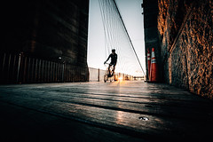 New York (Tim RT) Tags: tim rt sunrise bike biker people sun flare street scene wall yellow orange morning low nature light new york city usa america travel beautiful life style lifestyle fuji fujifilm xt xt2 xf1024mm outdoor gold heart sport