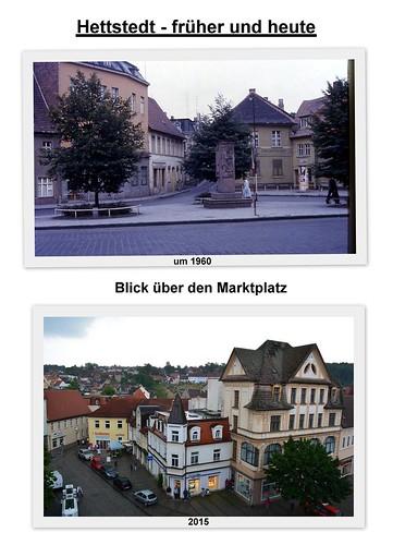 Hettstedt füher und heute, Marktansicht