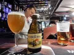 P and T... La Chouffe (deltrems) Tags: belgian beer bottle glass lachouffe pub bar inn tavern hotel hostelry house restaurant pumpandtruncheon pump truncheon blackpool lancashire fylde coast