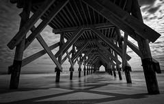 Vision (Matt Creighton) Tags: oceanic pier wrightsville beach north carolina ocean atlantic black white nikon d7200 seascape sea saltwater long exposure vision tunnel sand