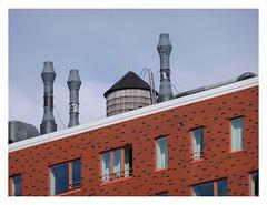 Montevideo roofscape (UF 145) (AurelioZen) Tags: europe nethetlands rotterdam kopvanzuid wilhetminepier montevideohighrise mecanoofrancienhouben watertank roofscape